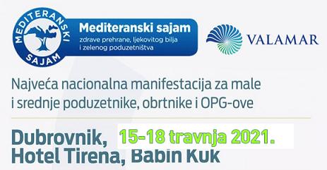 Mediteranski Sajam zdrave prehrane, ljekovitog bilja i zelenog poduzetništva – Dubrovnik